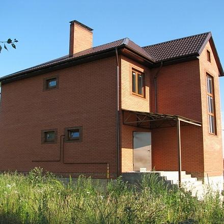 Стены дома: пеноблок, утеплитель, снаружи облицовочный кирпич